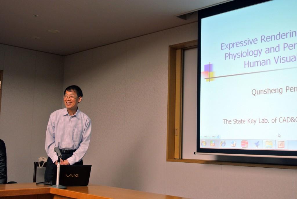 Peng先生の講演スタート
